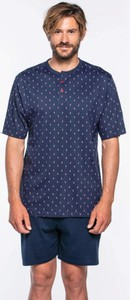 Granatowa piżama Softcotton