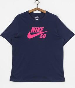 Niebieski t-shirt Nike z dżerseju