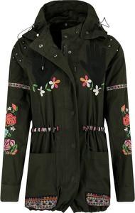 Czarna kurtka Desigual krótka w stylu casual