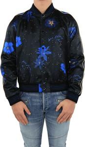 Czarna bluza SAINT LAURENT z nadrukiem z plaru w młodzieżowym stylu