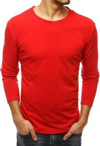 Czerwona koszulka z długim rękawem Dstreet z bawełny
