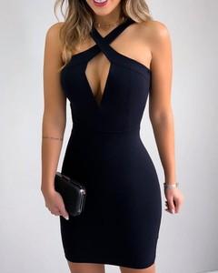Sukienka Kendallme bez rękawów z dekoltem w kształcie litery v dopasowana