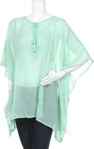 Zielona bluzka Women By Tchibo w stylu casual z długim rękawem z okrągłym dekoltem
