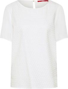 Bluzka S.Oliver z krótkim rękawem w stylu casual z okrągłym dekoltem