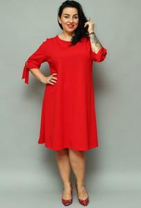 Sukienka KARKO z długim rękawem midi