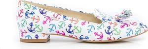 Baleriny Zapato w stylu casual z nubuku z płaską podeszwą