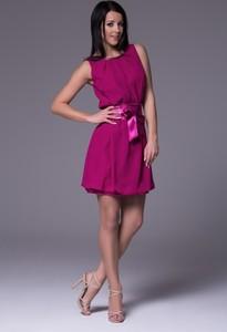 Różowa sukienka Wox bez rękawów z tkaniny