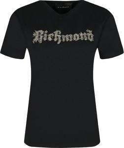 Czarny t-shirt John Richmond z krótkim rękawem w młodzieżowym stylu