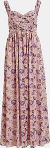 Sukienka Vila na ramiączkach maxi z dekoltem w kształcie litery v