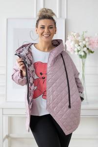 Różowa kurtka Sklep XL-ka krótka w stylu casual