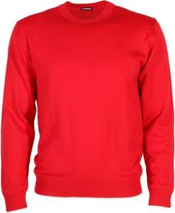 Czerwony sweter Willsoor z okrągłym dekoltem z dzianiny w stylu casual