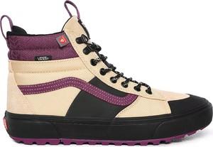 Buty zimowe Vans ze skóry sznurowane