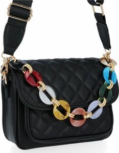 Czarna torebka Herisson pikowana na ramię
