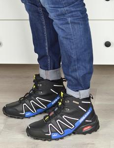 Czarne buty zimowe Damle sznurowane