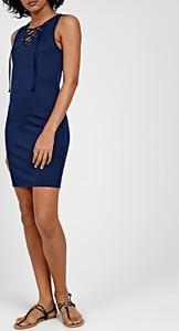 Niebieska sukienka Gate bez rękawów ołówkowa mini