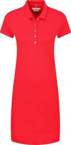 Sukienka Tommy Hilfiger z kołnierzykiem prosta mini