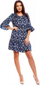Sukienka Monariss mini z długim rękawem z okrągłym dekoltem
