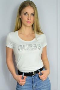 T-shirt Guess z bawełny w młodzieżowym stylu z krótkim rękawem