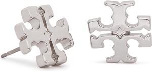 Kolczyki TORY BURCH - Logo Stud Earring 11165504 Tory Silver 022