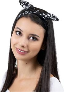 Miss Glow OPASKA do włosów PIN UP czarna BANDAMKA na gumce