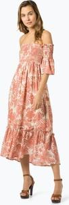76340c29da Różowa sukienka Pepe Jeans hiszpanka z krótkim rękawem