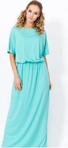 Sukienka Meleksima z okrągłym dekoltem w stylu casual maxi