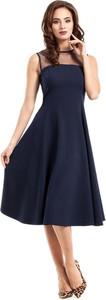 Granatowa sukienka MOE midi
