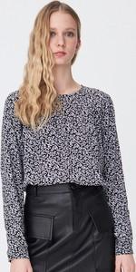 Bluzka Sinsay z długim rękawem z okrągłym dekoltem w stylu casual