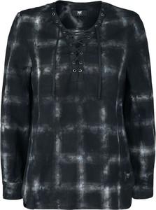 Czarna koszula Emp z długim rękawem z bawełny w stylu casual