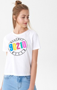 T-shirt House z krótkim rękawem z okrągłym dekoltem w młodzieżowym stylu