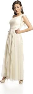Sukienka Fokus z okrągłym dekoltem rozkloszowana
