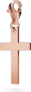 GIORRE SREBRNY CHARMS KRZYŻ 925 : Kolor pokrycia srebra - Pokrycie Różowym 18K Złotem