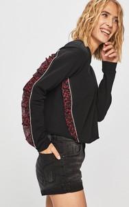 Czarna bluza Liu-Jo z dzianiny w młodzieżowym stylu