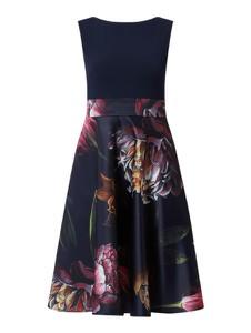 Granatowa sukienka Swing bez rękawów mini