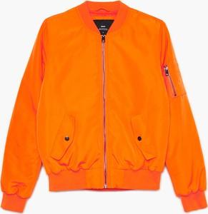 Pomarańczowa kurtka Cropp krótka