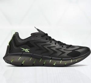 Czarne buty sportowe Reebok ze skóry sznurowane w sportowym stylu