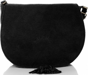 Czarna torebka VITTORIA GOTTI z frędzlami mała w stylu boho