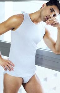 T-shirt Pierre Cardin bez rękawów z bawełny