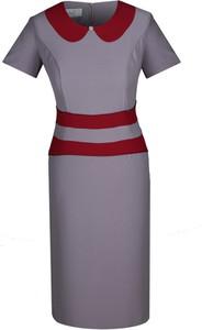Sukienka Fokus z kołnierzykiem z tkaniny ołówkowa