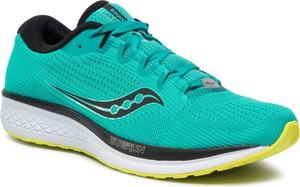 Niebieskie buty sportowe Saucony z płaską podeszwą