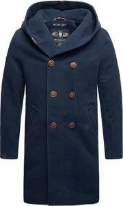 Niebieski płaszcz męski Marikoo