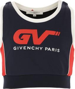 Granatowa bluzka dziecięca Givenchy bez rękawów