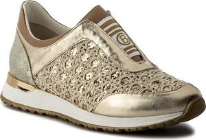 Złote buty sportowe baldinini ze skóry