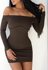 Sukienka Kendallme z długim rękawem dopasowana hiszpanka
