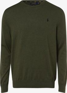 Zielony sweter POLO RALPH LAUREN w stylu casual z bawełny