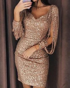 Sukienka Kendallme z długim rękawem prosta mini