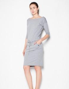 Sukienka Venaton midi z bawełny w stylu casual