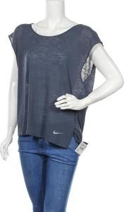 Niebieska bluzka Nike z okrągłym dekoltem