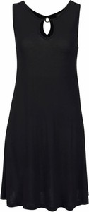 Czarna sukienka LASCANA mini z dżerseju