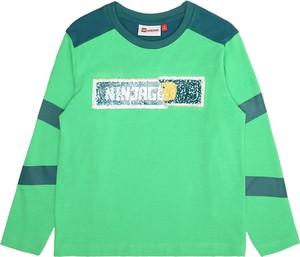 Zielona koszulka dziecięca LEGO Wear z dżerseju
